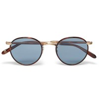 Garrett Leight California Optical Wilson Round Frame Tortoiseshell Acetate And Metal Sunglasses Tortoiseshell