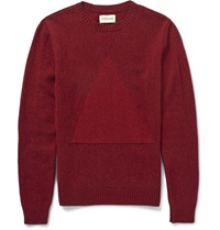 Oliver Spencer Triangle Intarsia Wool Sweater Red