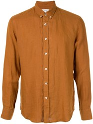 Venroy Button Down Shirt Brown