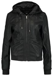 Only Onlmelodie Faux Leather Jacket Black