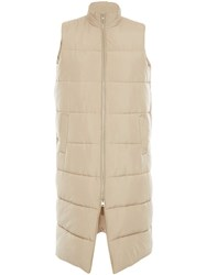 J.W.Anderson Jw Anderson Long Sleeveless Puffer Jacket Neutrals