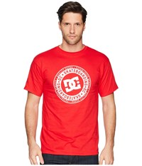 Dc Letterstress Short Sleeve Tee Tango Red Short Sleeve Pullover