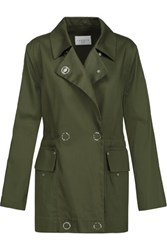 Sandro Mabel Cotton Twill Jacket Army Green