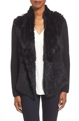 Women's Quinn Cashmere Cardigan With Genuine Rabbit Fur
