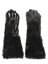 Cheap Monday Faux Fur And Faux Patent Leather Gloves