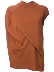 Enfold Asymmetric Drape Jersey Brown