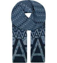 Aspinal Of London A Modal And Cashmere Scarf Navy