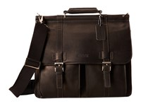 Kenneth Cole Reaction Colombian Leather Dowel Rod Portfolio Computer Case Black Briefcase Bags