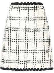 Tory Burch Boucle Checked Pattern Skirt 60