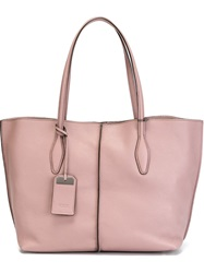 Tod's 'Joy' Shopping Tote Pink And Purple