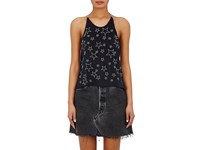 Amiri Women's Star Embroidered Halter Top Black Silver Black Silver