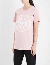Boy London Plastisol Cotton Jersey T Shirt Pink White