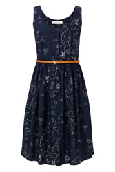 Sugarhill Boutique Beatrice Map Sundress Navy