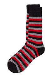 The Tie Bar Master Striped Socks Black