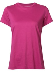 Vince 'Compact' T Shirt Pink Purple