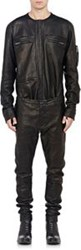 Haider Ackermann Leather Shirt Front Jumpsuit Black