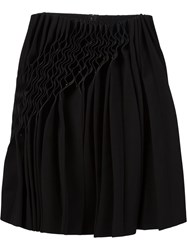 Comme Des Garcons Noir Kei Ninomiya Gathered Detail Skirt Black