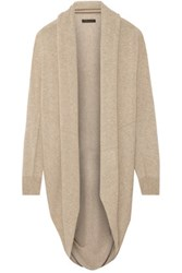 The Row Caro Draped Cashmere And Silk Blend Cardigan Sand