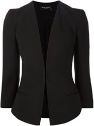 Narciso Rodriguez Fitted V Neck Jacket Black