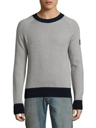 Belstaff Kingsmere Wool Blend Sweater Grey Navy