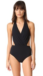 Karla Colletto Halter Monokini Black