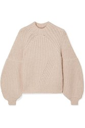 Ulla Johnson Lucille Ribbed Alpaca Blend Sweater Beige