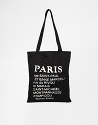 Maison Scotch Paris Canvas Shopper Bag Black