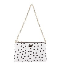 Dolce And Gabbana Polka Dot Micro Bag Female White