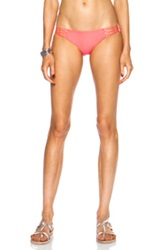 Mikoh Rockies Crocheted Detail Side Nylon Blend Bottom In Neon Pink