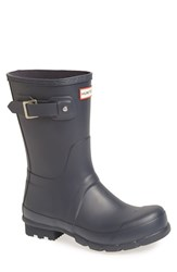 Hunter Men's 'Original Short' Rain Boot Navy