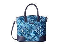 Vera Bradley Day Off Satchel Cuban Tiles Satchel Handbags Blue