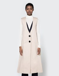 Toit Volant Adele Long Vest Dress Khaki