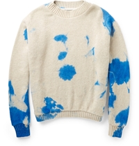 The Elder Statesman Dip Dyed Cashmere Sweater White