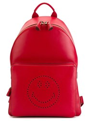 Anya Hindmarch 'Smiley' Backpack Red