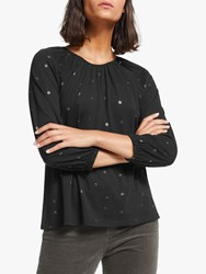 John Lewis Collection Weekend By Easy Gathered Foil Top Black