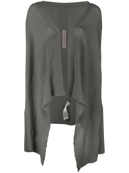 Rick Owens Short Wrap Cardigan Grey