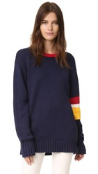 Again Ryder Oversized Sweater Navy