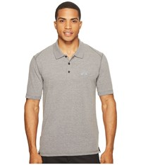 Oakley Icon Short Sleeve Polo Athletic Heather Grey Men's Short Sleeve Pullover Gray
