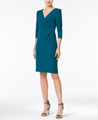 Betsey Johnson Ruched Sheath Dress Teal