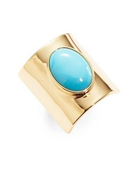 Trina Turk Turquoise Oval Stone Ring Blue