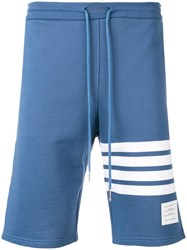 Thom Browne Engineered 4 Bar Jersey Sweatshort Blue