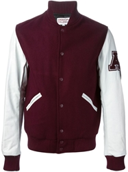 American College Classic Varsity Jacket Red