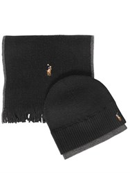 Polo Ralph Lauren Wool Merino Hat And Scarf Set