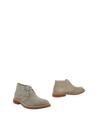 Eleventy Ankle Boots Light Grey