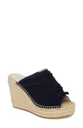Kenneth Cole New York Odele Espadrille Wedge Marine Marine Suede