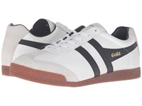 Gola Harrier Leather White Black Gum Men's Shoes