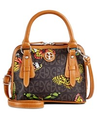 Giani Bernini Butterfly Print Mini Dome Satchel Only At Macy's Brown
