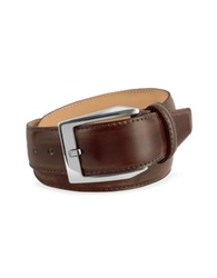 Pakerson Men's Coffee Brown Hand Painted Italian Leather Belt Dark Brown
