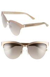 Women's Boss 57Mm Retro Sunglasses Brown Gold