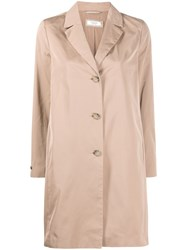 Peserico Single Breasted Trench Coat Neutrals